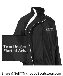 Youth Twin Dragon Jacket Black Design Zoom