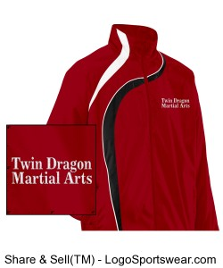 Twin Dragon Ladies Jacket Red Design Zoom